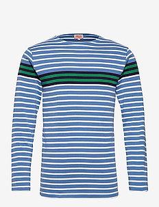 Breton striped Shirt Héritage - t-shirts à manches longues - blue/white/navy/green