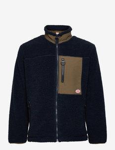 Sherpa Fleece Jacket - mid layer jackets - navy/khaki h21