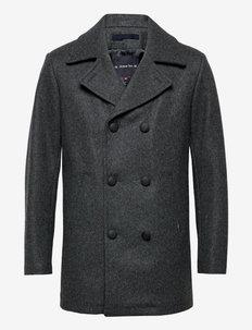 """Pea Coat """"Kermoor"""" - wool coats - gris chine"""