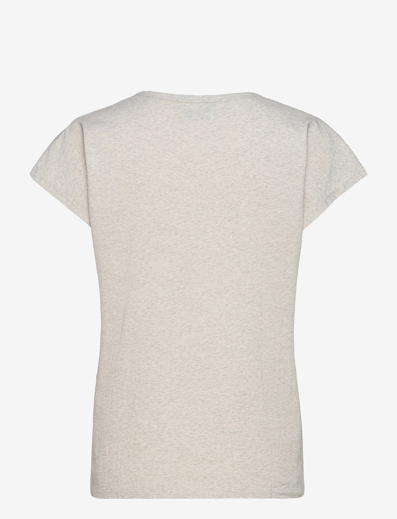 Arnie Says - Hadley Cotton - t-shirt & tops - lt grey melange - 1