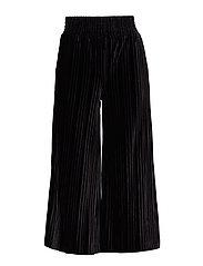 Louisa Velvet Pleat - BLACK