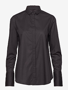 St Ives Poplin - long-sleeved shirts - black