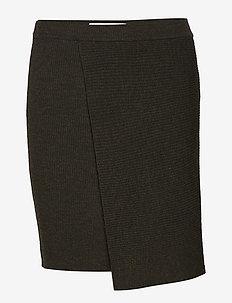 Reeve Rib - short skirts - dk green melange