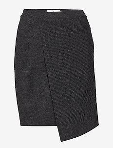 Reeve Rib - short skirts - dk grey melange