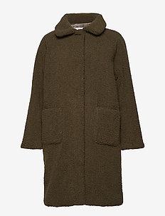 Forbes - wool coats - dk green