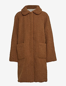 Forbes - wool coats - teddy brown
