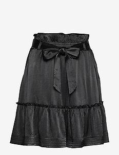 Aria Satin - short skirts - black