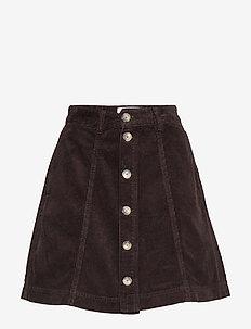 Tilly Corduroy - short skirts - dk brown