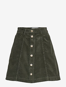Tilly Corduroy - short skirts - dk green