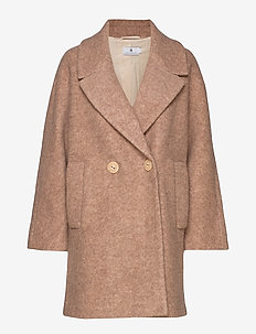 Waverly Wool - wool coats - beige melange