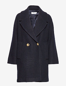 Waverly Wool - wool coats - dk navy