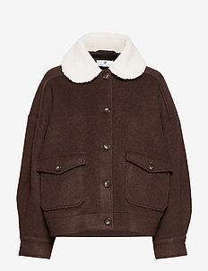Austen Solid - wool jackets - coffee
