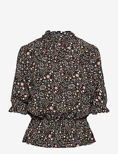 Camila Drapey Print - bluzki z krótkim rękawem - golden/pink multi