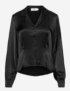 Adelaide Satin - blouses à manches longues - black