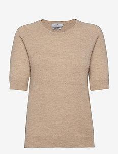 Georgina - gebreide t-shirts - beige melange