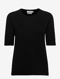 Georgina - knitted tops & t-shirts - black