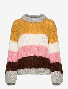 Marjorie - swetry - yellow multi