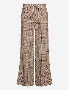 Nancy Plaids - spodnie szerokie - brown