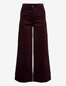 Nancy Corduroy - uitlopende broeken - dk plum