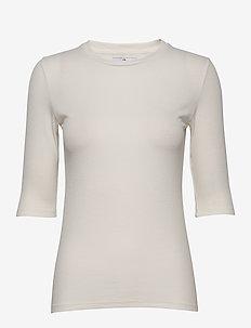 Bel Rib - basic t-shirts - ecru