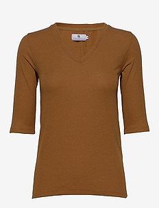 Eileen Rib - koszulki basic - caramel