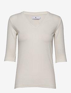 Eileen Rib - basic t-shirts - ecru