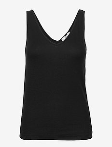 Jasmien Rib - basic t-shirts - black