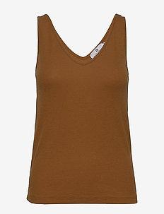 Jasmien Rib - koszulki basic - caramel