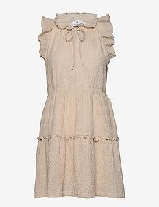 Mandy Texture - krótkie sukienki - ecru