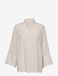 Crimson Tencel - long-sleeved shirts - lt beige