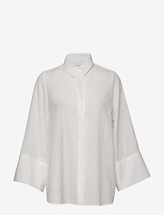 Crimson Tencel - long-sleeved shirts - offwhite