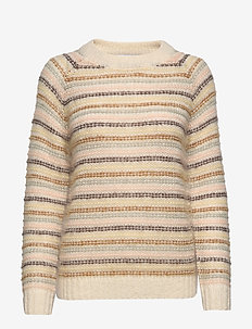 Maddox Stripe - jumpers - ecru multi