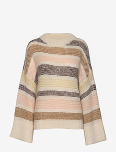 Amoret Stripe - jumpers - ecru multi