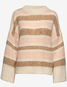 Amoret Stripe - jumpers - peach combo