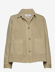 Zadie Ecru - denim jackets - dusty yellow