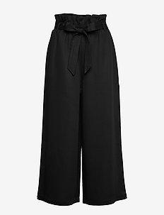 Chloe Drapey - spodnie szerokie - dk navy