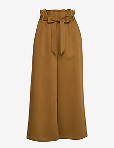 Chloe Drapey - wide leg trousers - golden brown