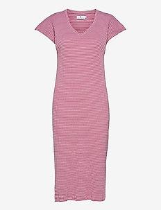 Liza Stripe - summer dresses - pink/ecru
