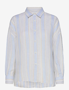 Campbell Linen - long-sleeved shirts - sand multi
