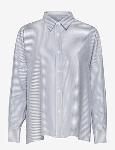 Campbell Oxford Tencel - long-sleeved shirts - blue stripe