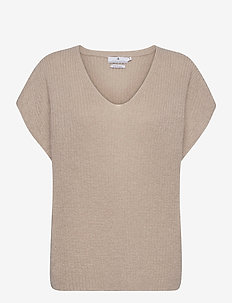 Vic - knitted tops - beige