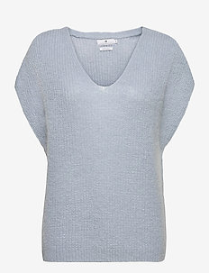 Vic - hauts tricotés - pale blue