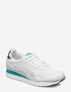 TIGER RUNNER - låga sneakers - white/white