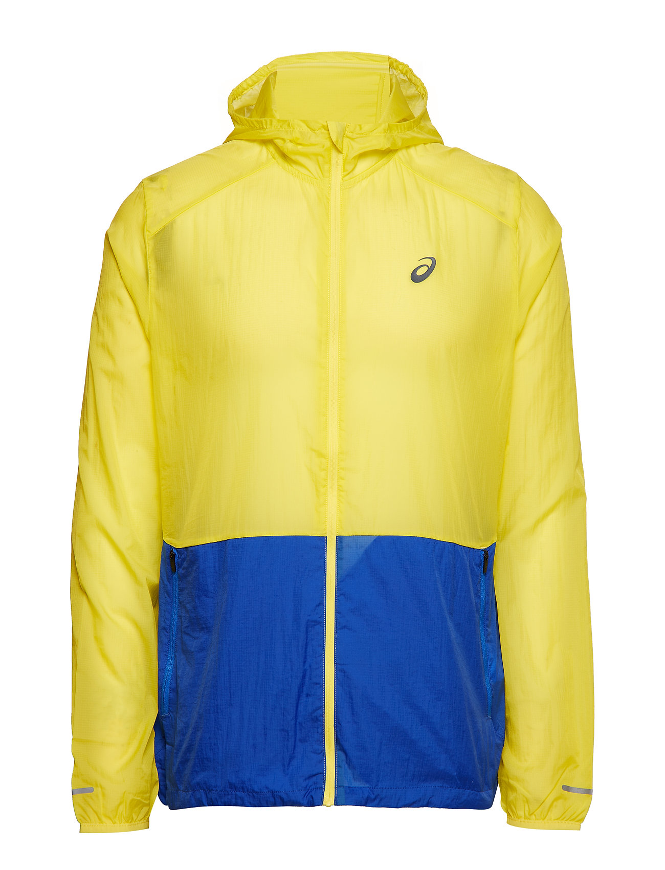 Asics PACKABLE JACKET - LEMON SPARK/ILLUSION BLUE