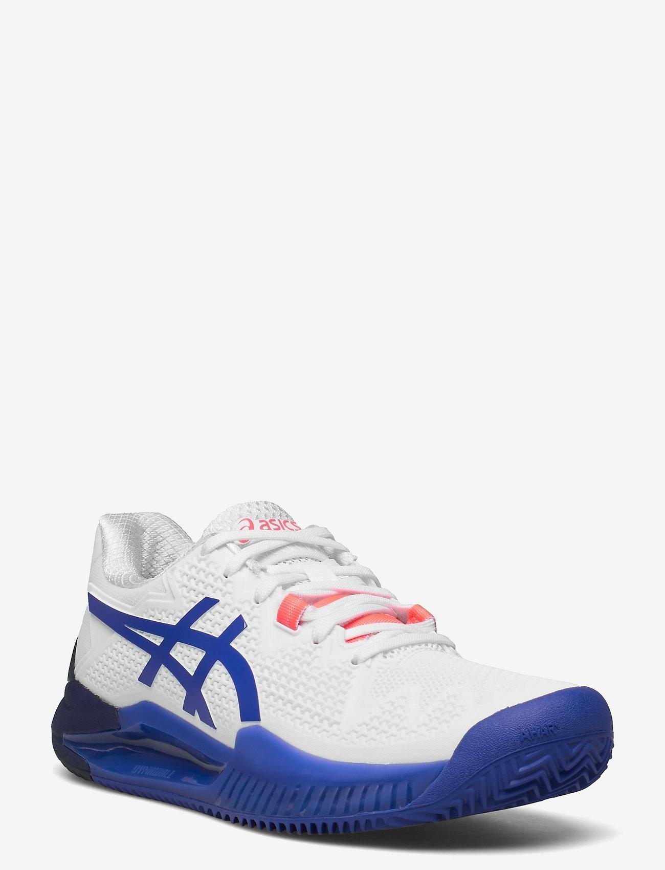 Asics - GEL-RESOLUTION 8 CLAY - ketsjersportsko - white/lapis lazuli blue - 0