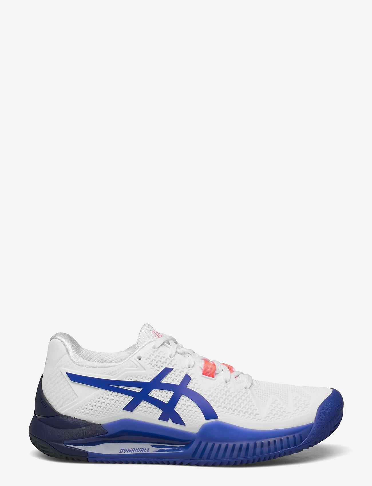 Asics - GEL-RESOLUTION 8 CLAY - ketsjersportsko - white/lapis lazuli blue - 1
