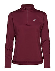 SILVER LS 1/2 ZIP WINTER TOP - CORDOVAN