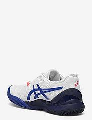 Asics - GEL-RESOLUTION 8 CLAY - ketsjersportsko - white/lapis lazuli blue - 2
