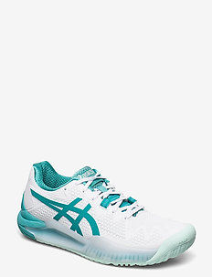 GEL-RESOLUTION 8 - tennis shoes - white/lagoon