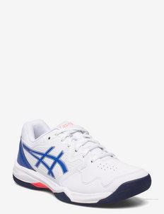 GEL-DEDICATE 7 INDOOR - racketsportschoenen - white/lapis lazuli blue
